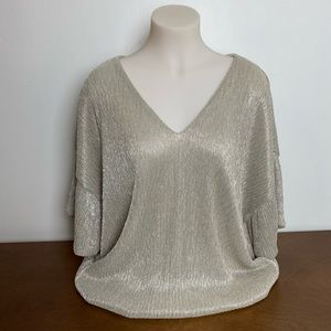 Anthropologie | Vanessa Virginia Shimmery Top